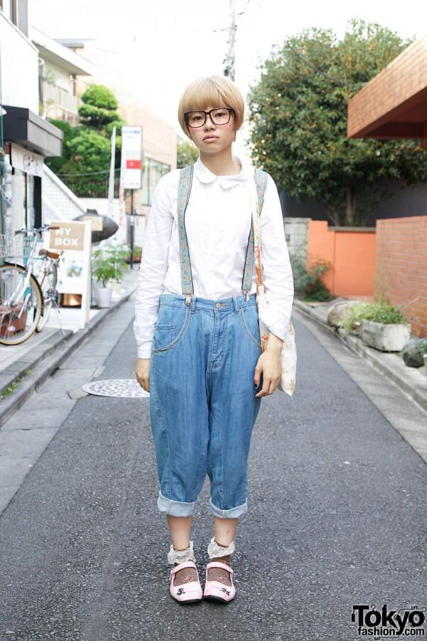 Ne-Net boyfriend jeans & resale shirt in Harajuku