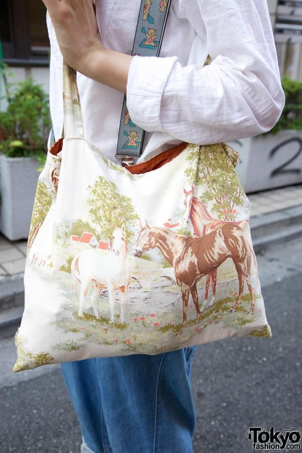 Vintage horse print bag from Tarock