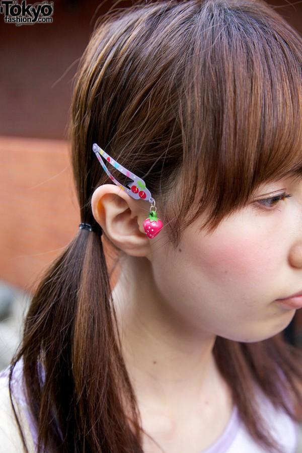 Strawberry Hair Clip in Harajuku
