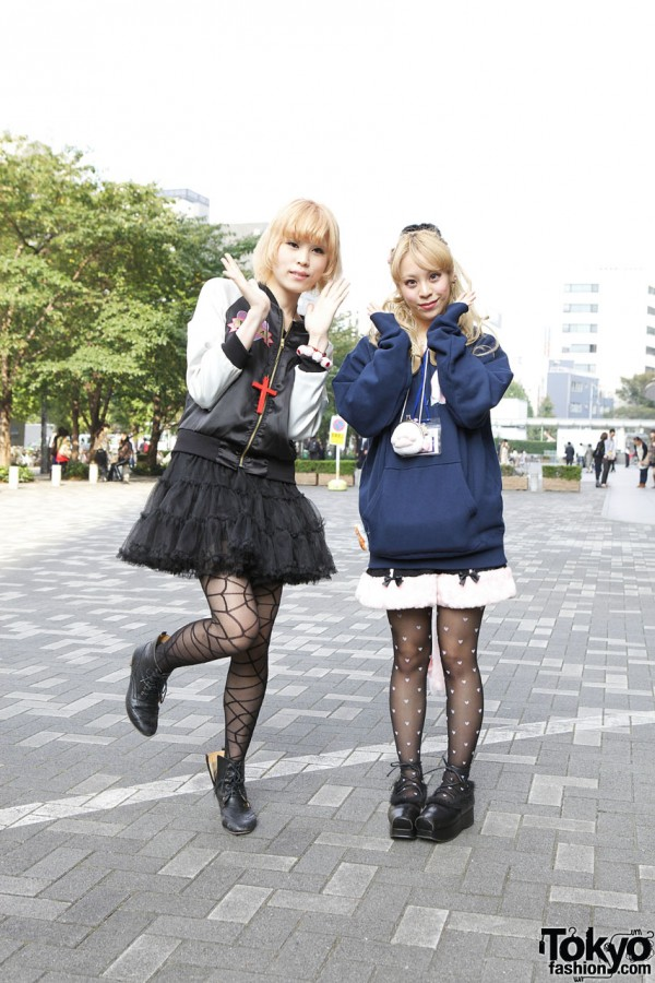 Bunka Girls' Nadia Satin Jacket & Shirley Temple Furry Shorts in Shinjuku