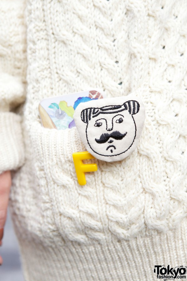 Cute Buttons on Resale Knit Sweater