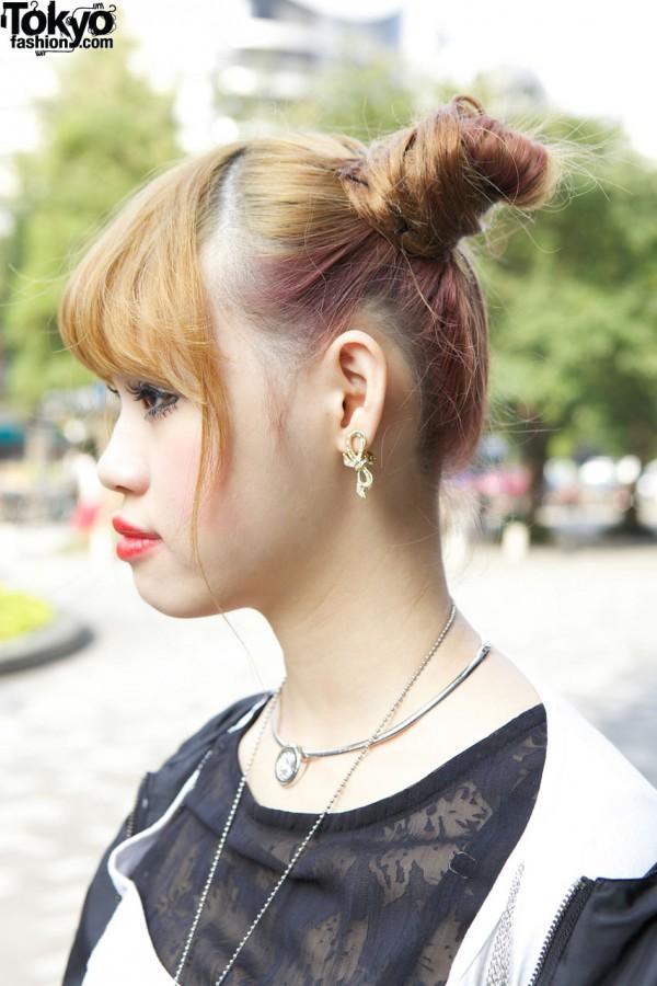 Bow Earring & Choker in Tokyo