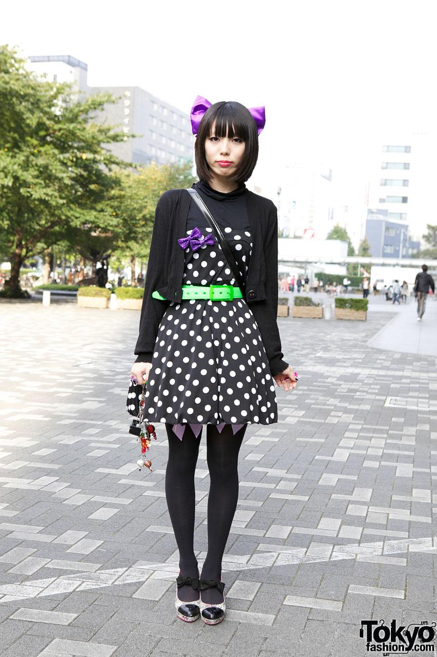 Polka Dot Dress in Tokyo