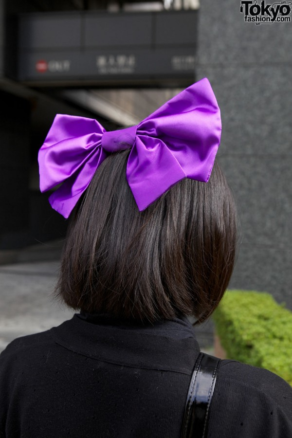 Giant Purple Hair Bow in Tokyo