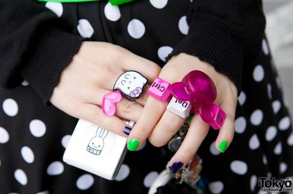 Cute Rings & Cune Mobile Phone Art