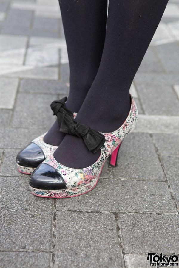 Rainbow Snakeskin Heels in Tokyo