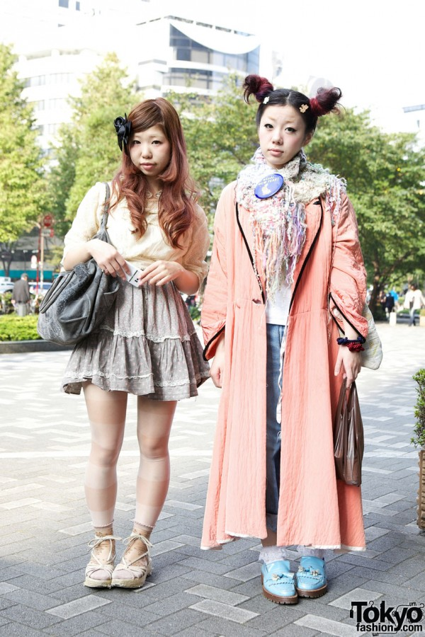 Shinjuku Girls' Hair Bow & Cult Party Skirt vs. Odango Buns & Resale Robe