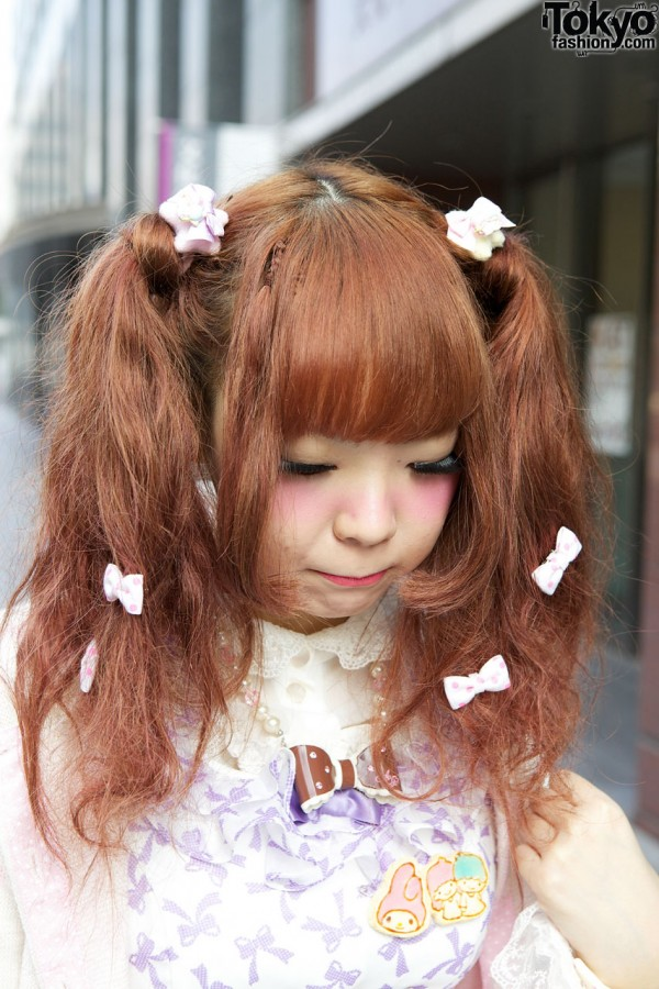 Cute Japanese Hairstyle With Lots of Bows