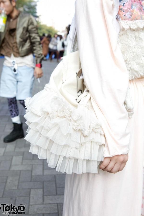 Ruffled purse from Fur Fur