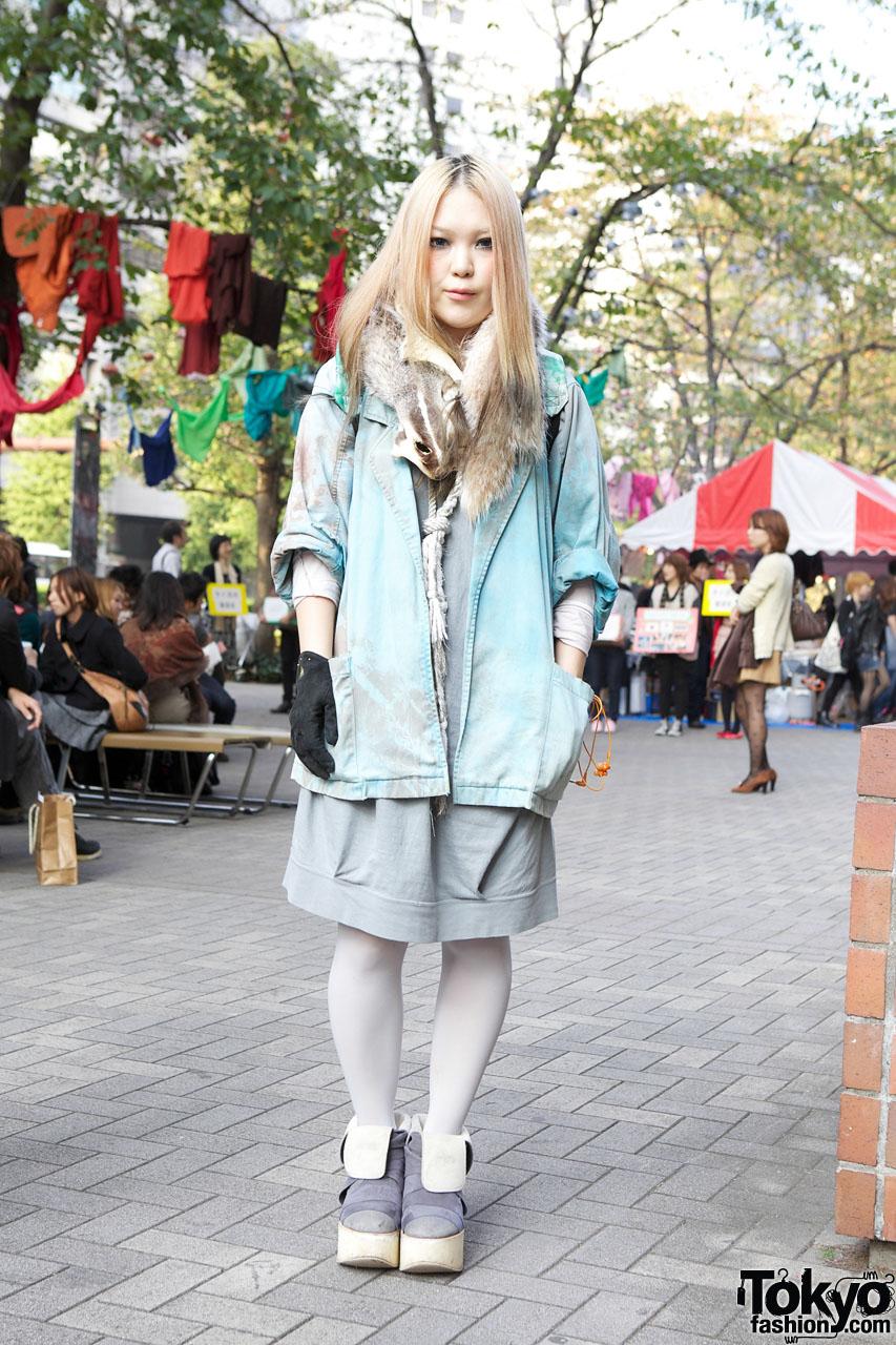 Japanese Designer W Dyed Coat Ohta Backpack Tokyo Bopper Platforms