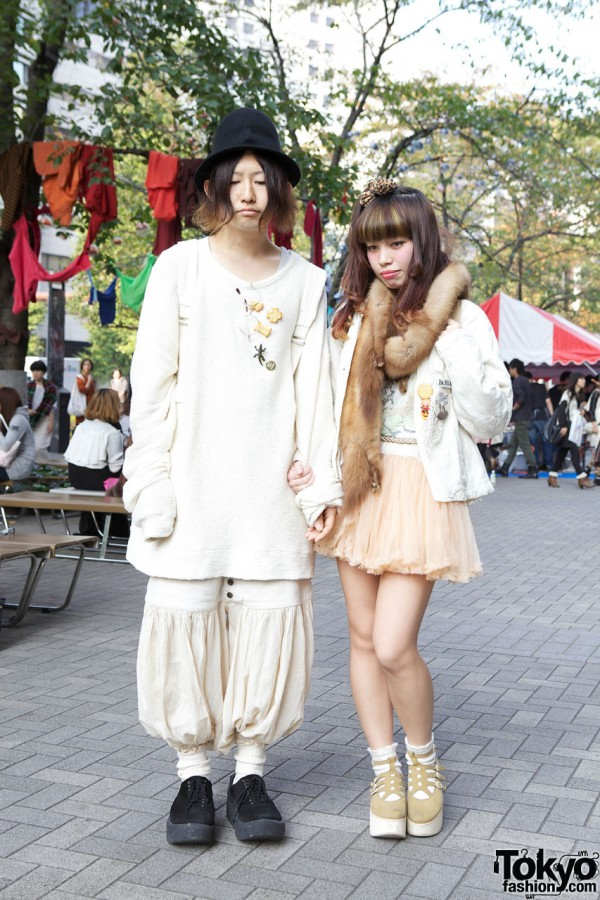 Handmade Accessories, Hat with Molded Face & Chiffon Miniskirt