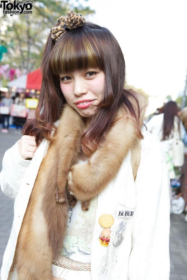 Fur stole in Shinjuku