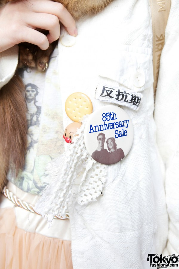 Button & handmade pin in Shinjuku