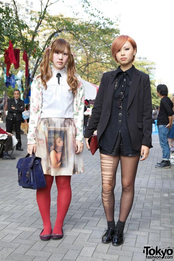 Shinjuku Girls' Jane Marple Portrait Skirt & The Virgin Mary Sweater