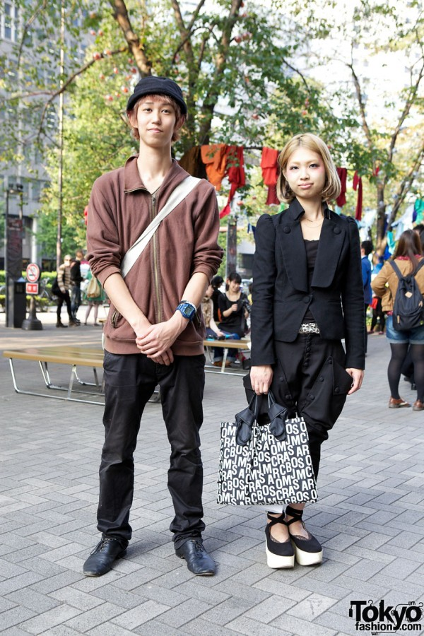 Guy's H&M Pullover & Beams Pants vs. Girl's Sly Suit & Marc Jacobs Bag