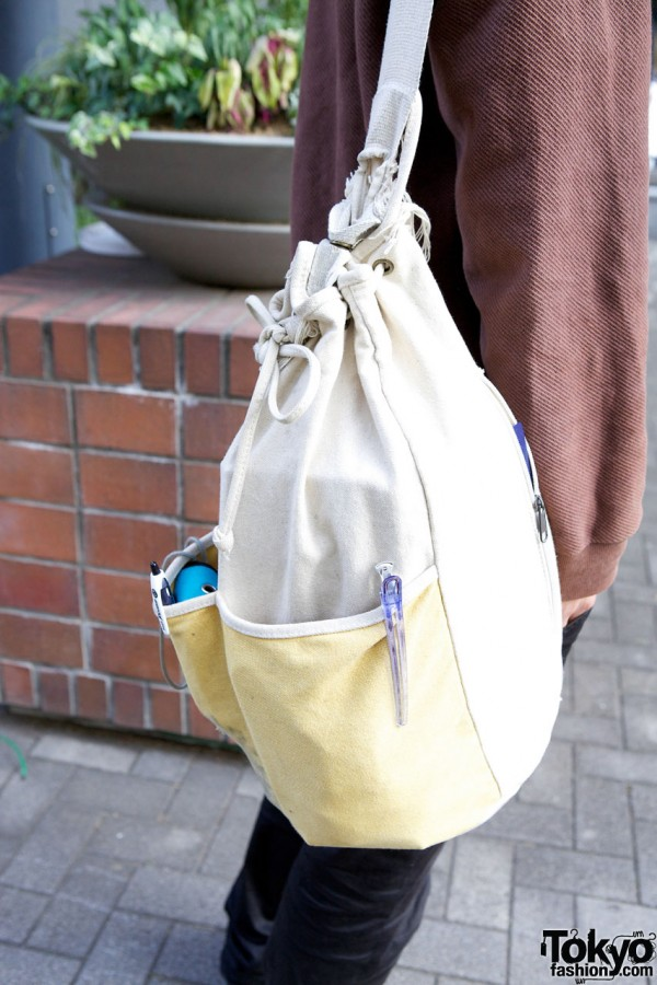 Canvas duffel bag in Shinjuku