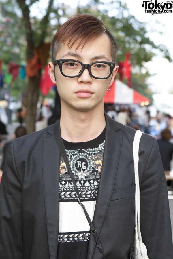 Givenchy Top & Glasses in Tokyo