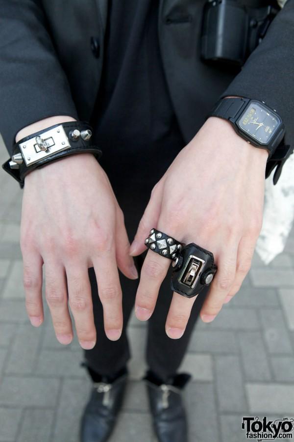 F.E.A.R. Studded Bracelet & Ring