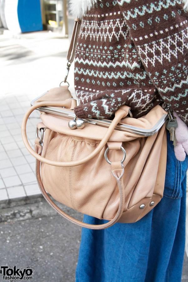 Mystic leather purse in Harajuku