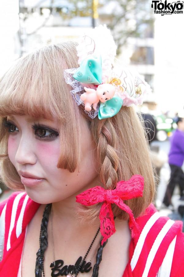 Kewpie Doll Headpiece in Harajuku