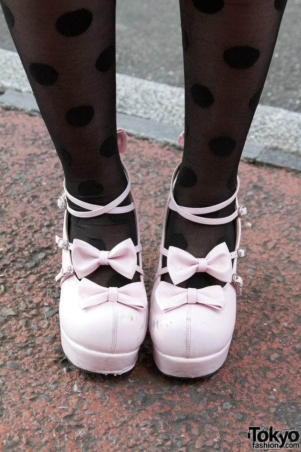 Body Line Platform Bow Shoes