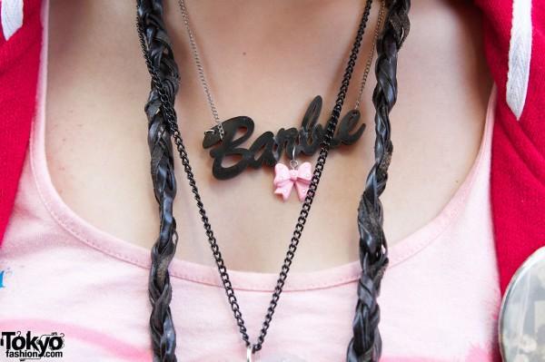 Barbie Logo Necklace in Harajuku