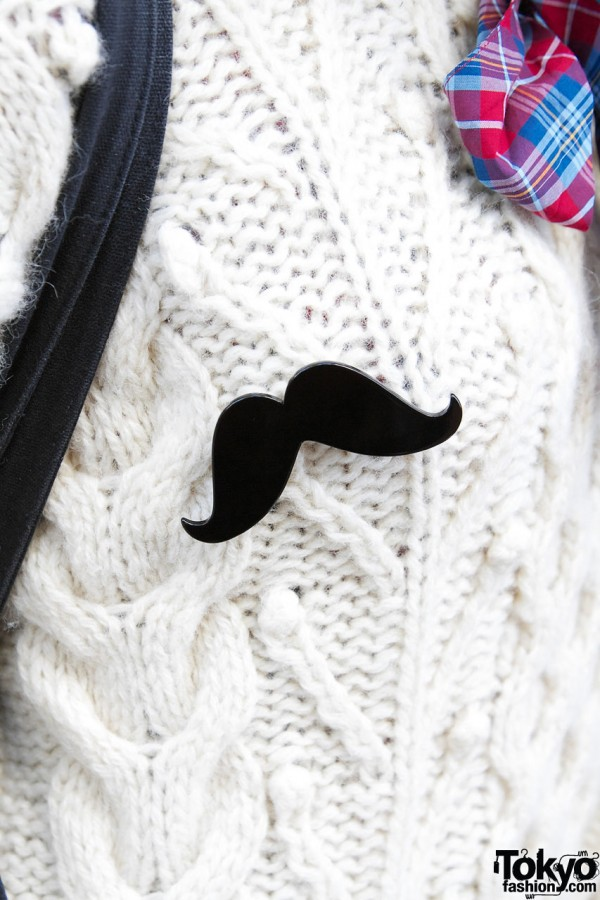 Mustache Pin from I AM I