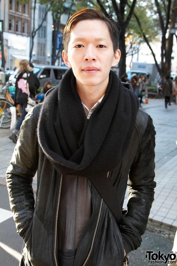 Rick Owens Leather Jacket in Harajuku