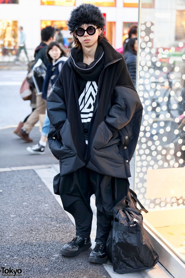 H>Fractal Top & Oversized Jacket in Harajuku