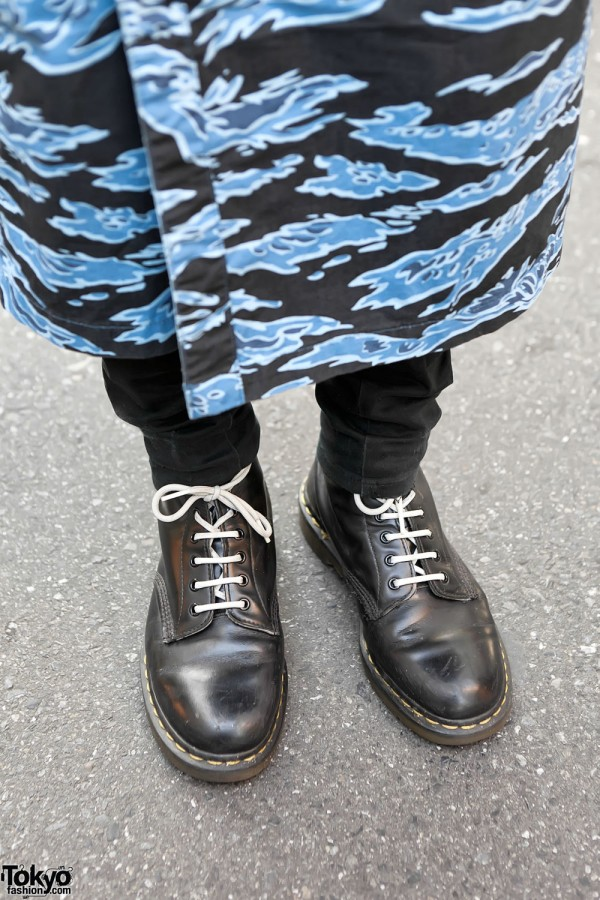 Men's Skirt & Boots in Harajuku