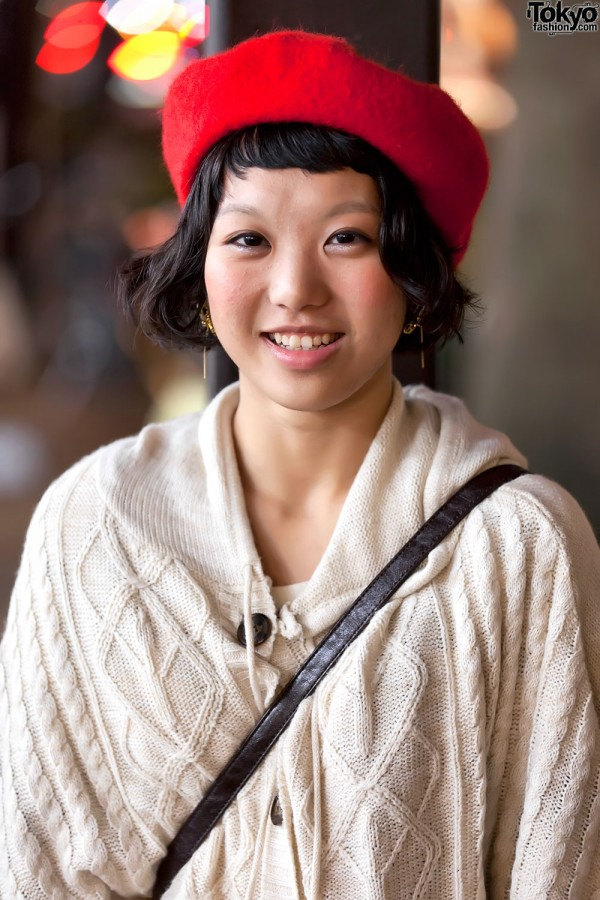 Red Beret & Smile in Harajukuin