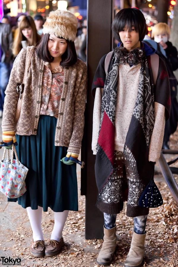 Harajuku Pattern Fashion & Fur Hat