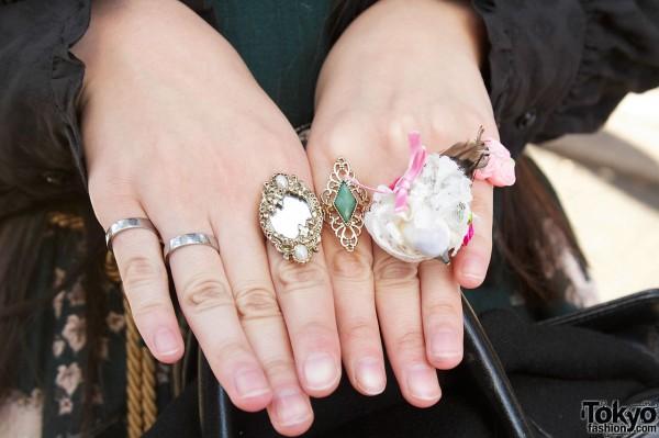 Vintage-style Lolita Rings
