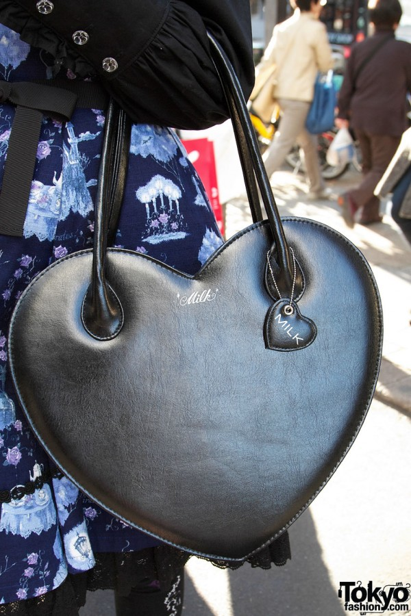 Milk Harajuku Heart Handbag