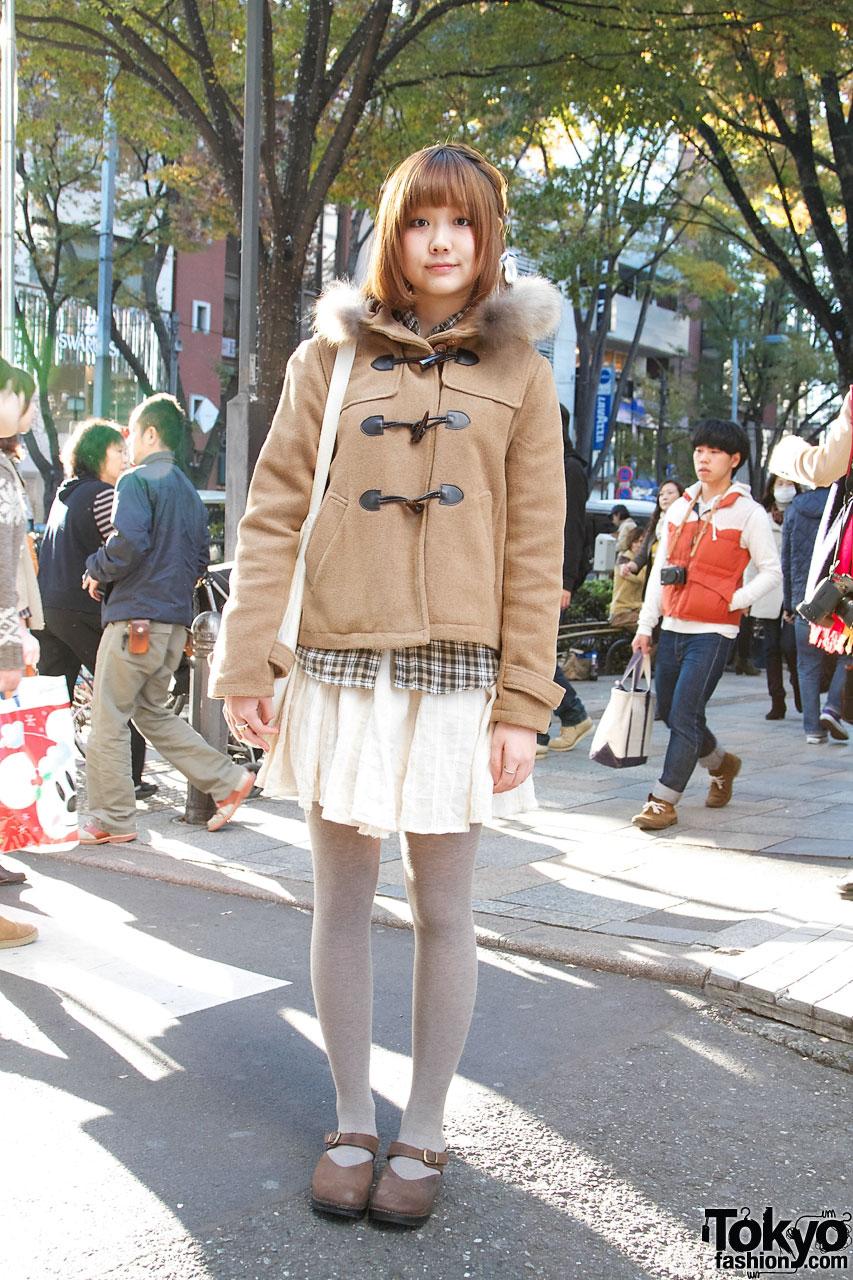 Japanese college girl delightful