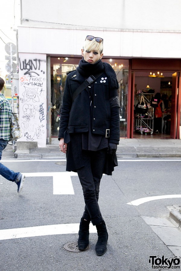 Pierced †13th Moon† Band Member Dressed in Head-to-Toe Black