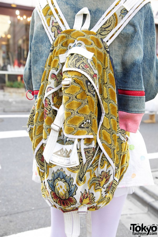 Banal Chic Bizarre / A.D.D. tapestry backpack