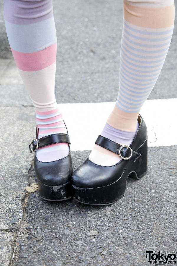 Platform Mary Jane Shoes in Harajuku