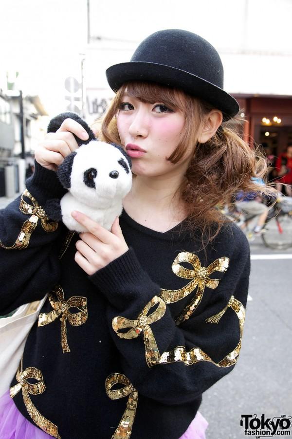 Maho & Her Panda Ear Muffs