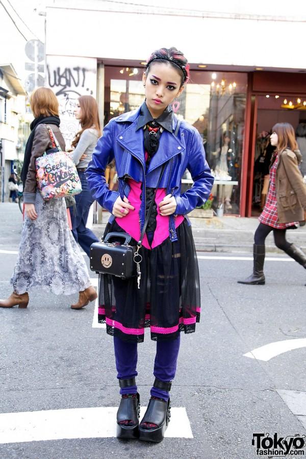 Hirari in Harajuku w/ Pink & Purple Outfit + Spike Headband
