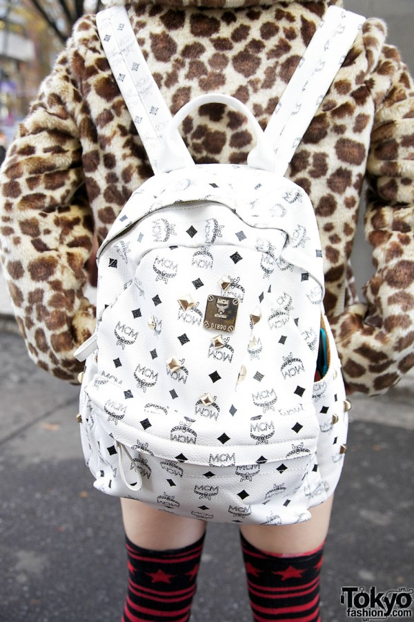 MCM backpack in Harajuku