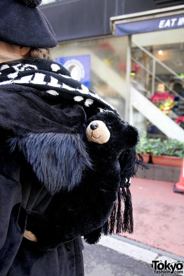 Milk Boy hoodie & stuffed bear in Harajuku