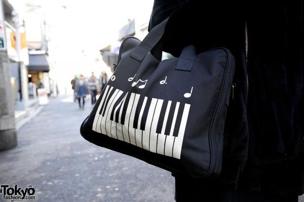 Purse with piano keys from Gaijin resale shop