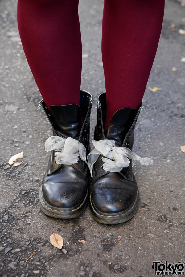 Dr. Martens boots w/ ribbon laces in Harajuku