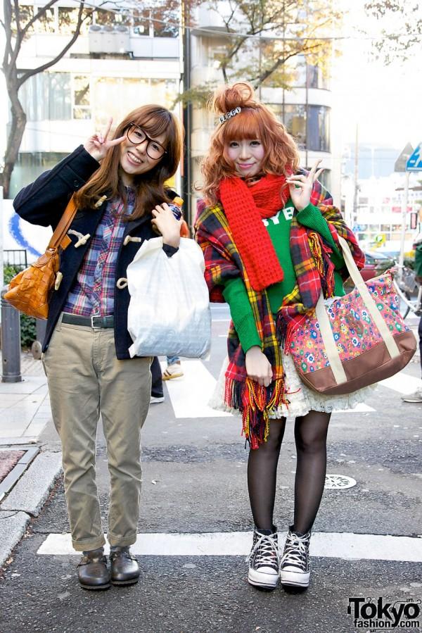 Two Smiley Harajuku Girls