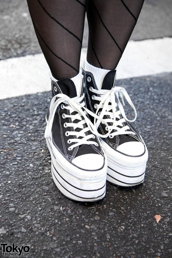 Nadia platform sneakers in Harajuku