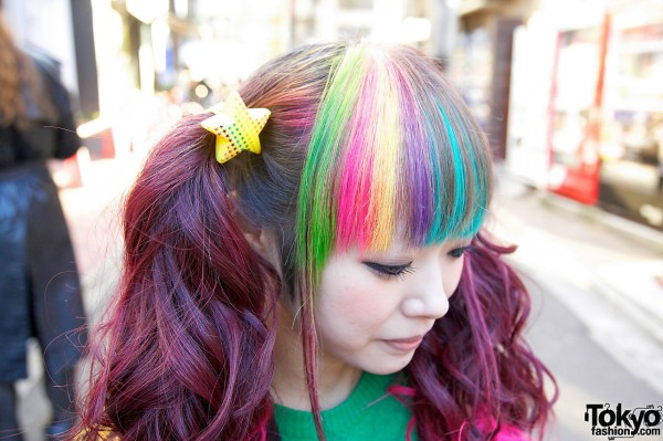 Rainbow Decora Hairstyle in Harajuku