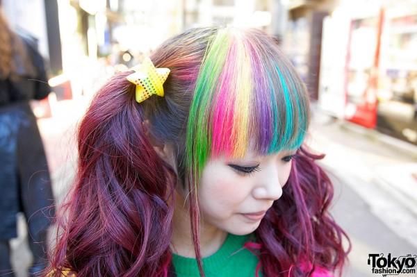 Rainbow Decora Hairstyle in Harajuku