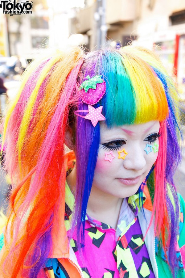 Rainbow Colors & Decora Hair Clips