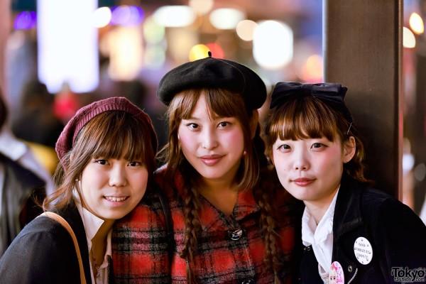 Three Friends in Harajuku